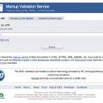 HTMLの文法をチェックしてくれる:Markup Validation Service