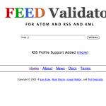 RSSフィードが正しいかをチェックしてくれる:FEED Validator