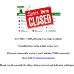 DMOZが運用を終了、サイトも無くなりました