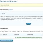 timthumb vulnerability scanner:timthumb.phpを検索してくれるプラグイン